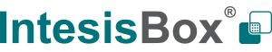 IntesisBox logotype situated in the header of the web