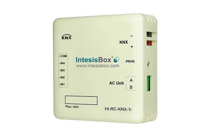 Hitachi VRF SET FREE systems to KNX Gateway with Binary Inputs