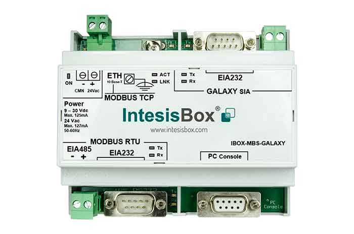 Galaxy to Modbus Gateway