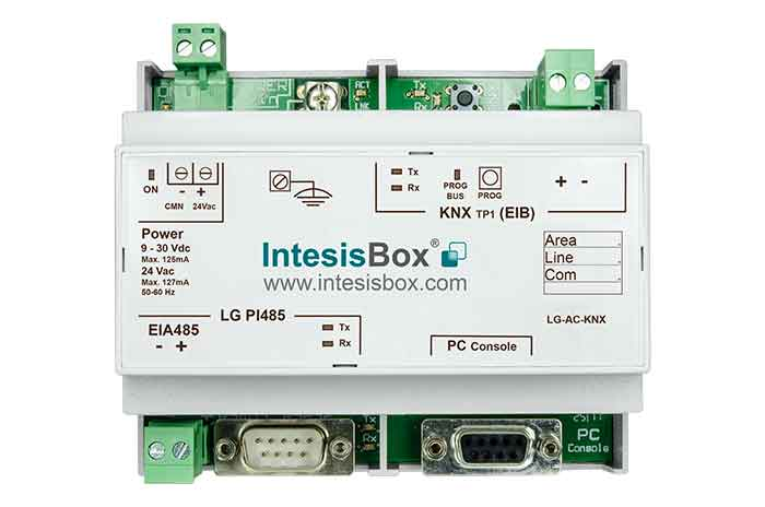 LG VRF systems to KNX Gateway