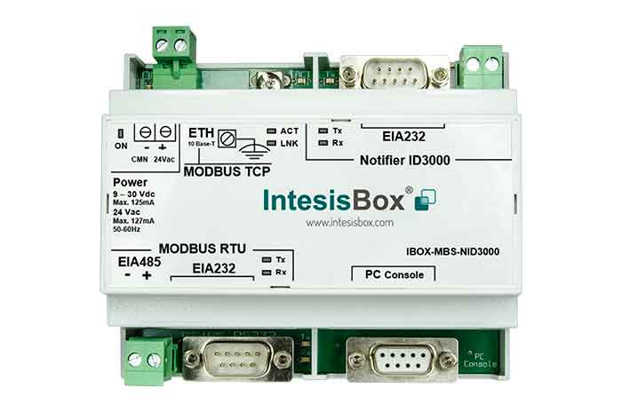 Notifier to Modbus Gateway