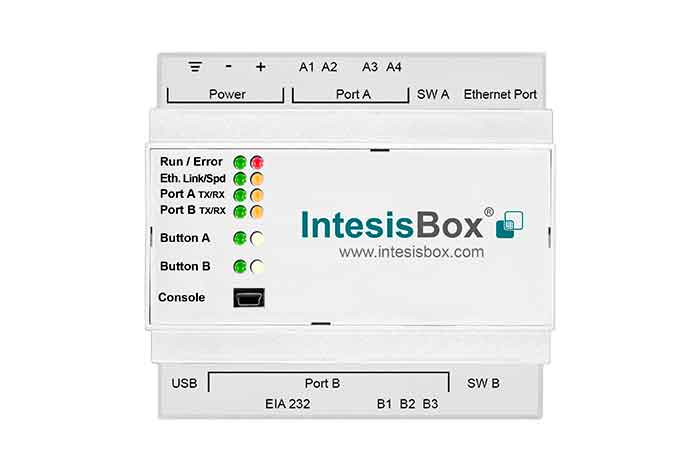 Panasonic VRF units to KNX Gateway